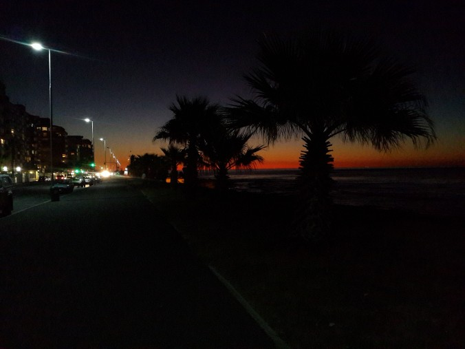 An it-will-be-summer-soon sunset on the Promenade